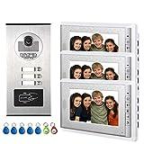 Video-Türklingel aus Aluminiumlegierung, Kamera, 17,8 cm (7 Zoll) Monitor, Video-Türsprechanlage,...