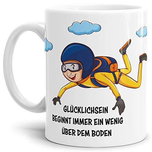 Tasse mit Spruch Fallschirmspringer - Kaffeetasse/Mug/Cup - Qualität Made in Germany