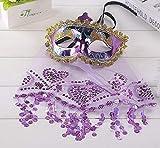 Fiesta de Maquillaje Fiesta Navidad Halloween Danza del Vientre Velo máscara de Dama Código Promedio Púrpura