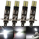 QasimLED H1 Canbus 4014 24 SMD LED sin Errores para Universal Motorcycle Truck Car Faros Delanteros Señal de Advertencia Lámpara...