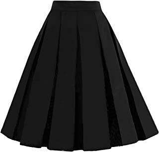 black full circle midi skirt