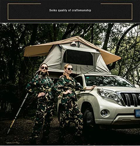 Xljh Tente sur Le Toit Tente de Toit de Voiture de 1,4m sans l auvent et Tente arrière Toit de Tente à 4 Roues motrices