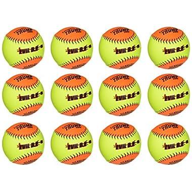 Evil Ball 12  BP 52 Batting Practice Ball .52/300 Softball- Dozen Evil BP 52-DZ
