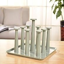YKJZLL Kitchen drain cup holder plastic household items glass storage rack wine glass rack