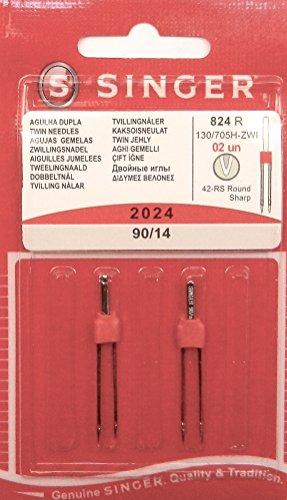 2 Original Singer universal Zwilling agujas de coser 2024 grosor 90/14