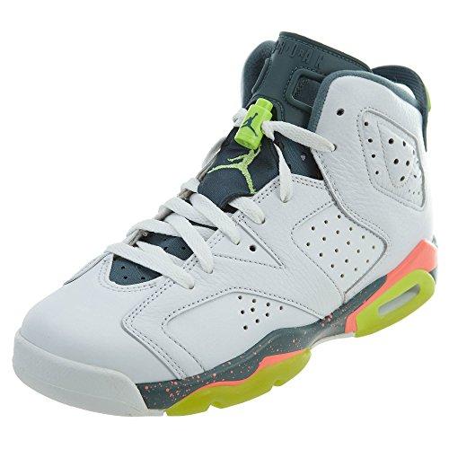 Nike Nike Jungen Basketballschuhe, Weiß/Grün (White/Ghst Green-HST-Brght MNG), 36.5 EU