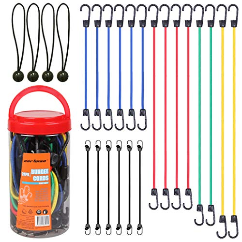 Cartman Bungee Cords Assortment Jar 24 Piece in Jar -...