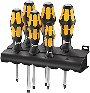 Wera 932/6 Kraftform Chiseldriver screwdriver set and rack, Phillips/Slotted, 6pc, 05018282001 (B0001NQQCC) | Amazon price tracker / tracking, Amazon price history charts, Amazon price watches, Amazon price drop alerts
