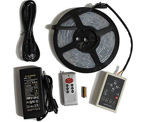 LED4Everything (TM) 5M 16.4ft 12v SMD IC 6803 5050 Dream Magic RGB LED Strip 133 Color Change + RF Remote Controller + 12V 5A Power Supply