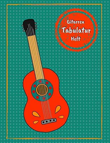 Gitarren Tabulatur Heft: Tab Block mit leeren Tabulaturlinien und Akkorddiagrammen für akustische Gitarre / E-Gitarre | 108 Seiten inkl. Inhaltsverzeichnis | Geschenkidee für Gitarristen