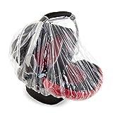 Hauck Universal Regenverdeck für Babyschale (z.B. Zero Plus, Comfort Fix), gute Luftzirkulation, Griff Öffnung – Transparent