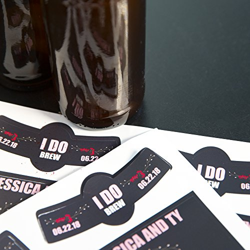 Product Image 6: Neato Blank Beer Bottle Labels – 10 Sheets – 40 Total Labels – Water Resistant, Vinyl, Tear Free Labels for Inkjet Printers – Strong Adhesive – Includes Online Design Beer Label Software