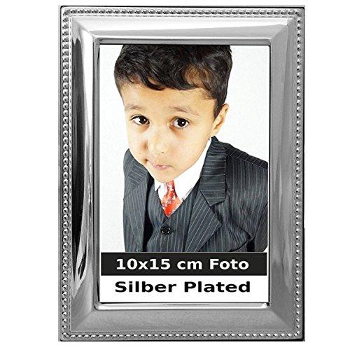 silberkanne Cornice portafoto con Bordo Perlato Argento Foto Silver Plated 10x 15cm