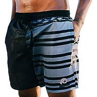 GUGGEN Banador de Natacion para Hombre Traje de Bano Color Negro Blanco XXL