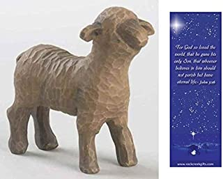 Willow Tree Standing Black Sheep Individual Nativity Figurine with Nativity Bookmark