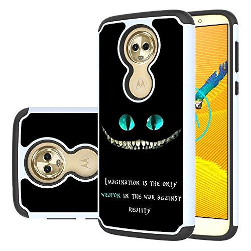 Yiakeng Moto E5 Plus Case, Moto E5 Supra Case, Dual Layer Waterproof Hard Slim Glitter for Girls Women Wallet Phone Cover Cases for Motorola Moto E5 Plus (magination Weapon)