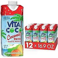 12-Pack Vita Coco Peach & Mango Coconut Water, 16.9 Ounce