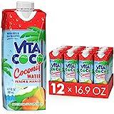 Vita Coco Coconut Water, Peach & Mango - Naturally Hydrating Electrolyte Drink - Smart Alternative...