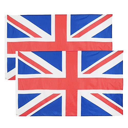 DODUOS 2 Stück Union Jack Flagge 150 cm x 89 cm Großbritannien Flagge Britische Flagge mit 2 Messingösen
