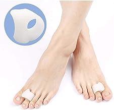 1 Pair Gel Single-Hole Hallux Valgus Corrector, Bunion Splint Protector Separator for Overlapping Toe/Hammer Toe Pain Reli...