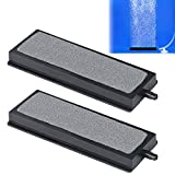 Pawfly 4 Inch Air Stone Grey Mineral Bubble Stone Bar Diffuser Bubbler Airstones for Aquarium, Fish Tank, and Pump,2 Pack