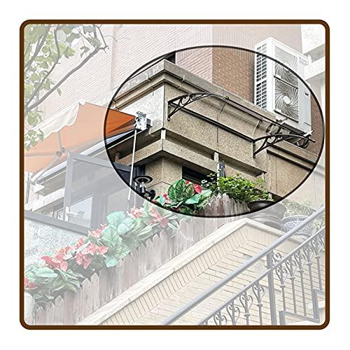 QIANDA Policarbonato Marquesina de Puertas, Exterior Tejadillo protección Protección UV Hoja Hueca por Patio Interior Jardín, Ancho 60cm, 80cm (Color : Claro, Size : 80x100cm)