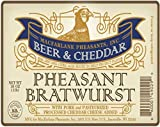Pheasant Bratwurst- Beer & Cheddar Flavor 24 brats/ 6 packages/ 4 brats
