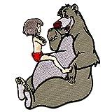 The Jungle Book Mowgli + Baloo Disney cómico niños - Parches termoadhesivos bordados aplique para ropa, tamaño: 6 x 7 cm