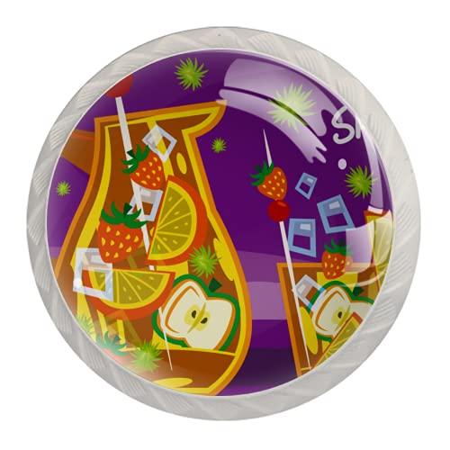 Sangria Tradicional Bebida Española | Manija de armario moderna impresión minimalista manija del cajón manija de la puerta del armario 4 piezas traje