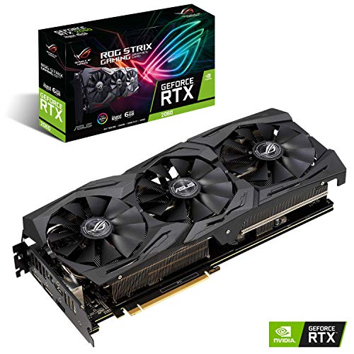 ASUS ROG STRIX NVIDIA GeForce RTX 2060 Advanced 6G Gaming Grafikkarte (PCIe 3.0, 8GB DDR6 Speicher, HDMI, Displayport, USB Type-C)