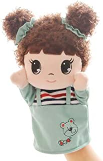 DRAGON SONIC Lovely Girl with Cloth Puppets Cartoon Pattern Hand Puppet,A