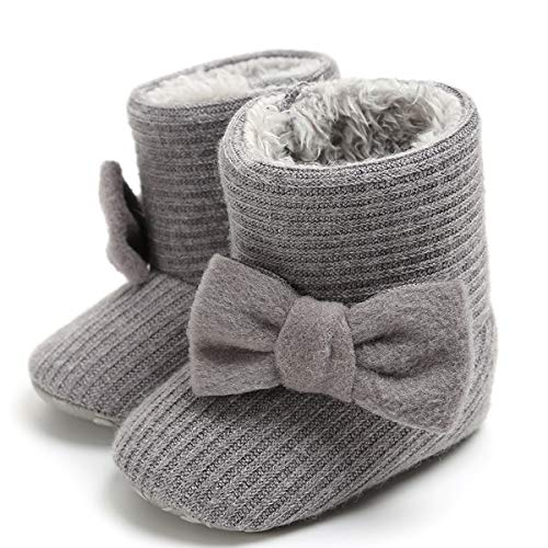 LIVEBOX Newborn Baby Cotton Knit Booties,Premium Soft Sole Bow Anti-Slip Warm Winter Infant...