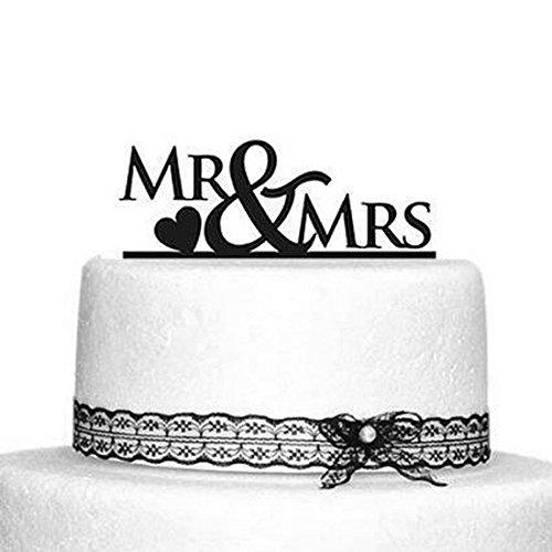 Oblique-Unique® Mr & Mrs Hochzeitstorte Topper Acryl Kuchendeckel Hochzeit