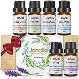 Janolia 8pcs Aceites Esenciales, Aceites para Humidificador, Material de Plantas Naturales, Ideal para Respiracion, Sueno