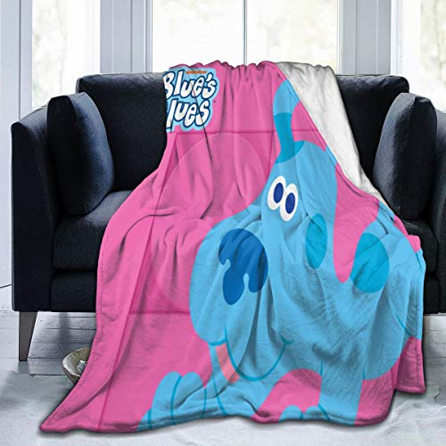 DKF Blues-Clues Ultra-Soft Micro Fleece Blanket for Bed Car Camp Couch Fur Plush Throw Blankets for Adults Or Kids