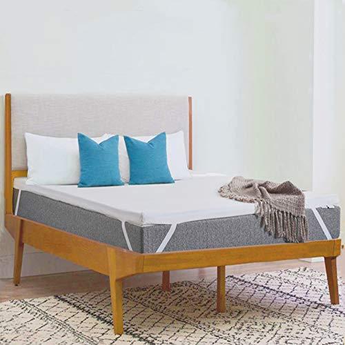 WAVVE Matratzentopper 90x200, 6cm 50D Gelschaum Matratzenauflage, Viskoelastische Gelschaum Topper mit Waschbarer Bezug für Bett Boxspringbett