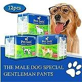 Pet Soft Disposable Male Wrap Dog Diaper, 12Pcs, XS
