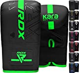 RDX Bag Gloves for Heavy Punching Training, Maya Hide Leather Kara Punch Mitts for Sparring, Boxing, MMA, Muay Thai, Kickboxing, Focus Pads and Double End Speed Ball Workout