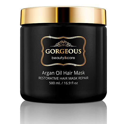 Argan Oil Hair Mask, 100% authentic Argan Oils - Deep Conditioner, Hydrating Hair Treatment Therapy, Repair Dry Damaged, Color Treated 16.9 OZ