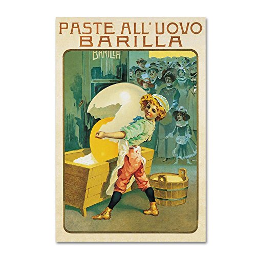 Barilla Pasta Egg by Vintage Apple Collection, 22x32-Inch Canvas Wall Art