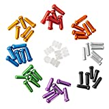 HZJD 48PCS Cable End Crimps, Bike Brake Cable caps, Cable Caps for Bike Shift Alloy,Bicycle Brake Cables End Caps, 6PCS O-Ring Brake Cable Rubber Donuts