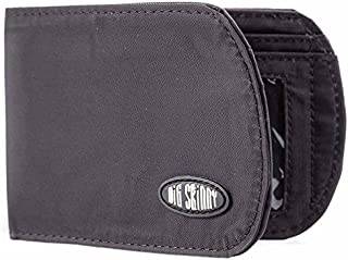 Men's RFID Blocking Curve Bi-Fold Slim Wallet, Holds Up to 20 Cards, Black