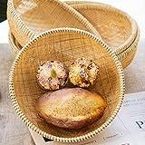 Round Corbeille Pain Bambou, Corbeille A Pain Pas Cher, Conteneur for Aliments Paniers De Table De Service, Corbeille À Pain Empilable (Size : 9 inches)