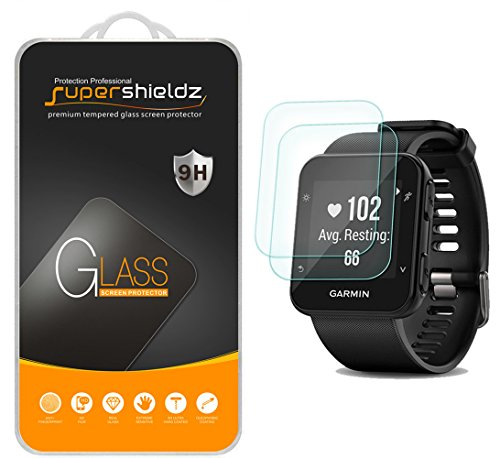 (2 Pack) Supershieldz for Garmin Forerunner 35 Tempered Glass Screen Protector, Anti Scratch, Bubble Free