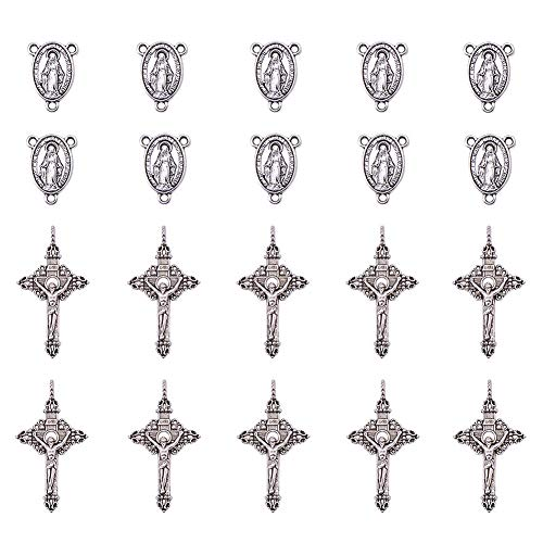 10 20 Encantos de Plata Tibetana Antiguo Buda Colgantes TSC40