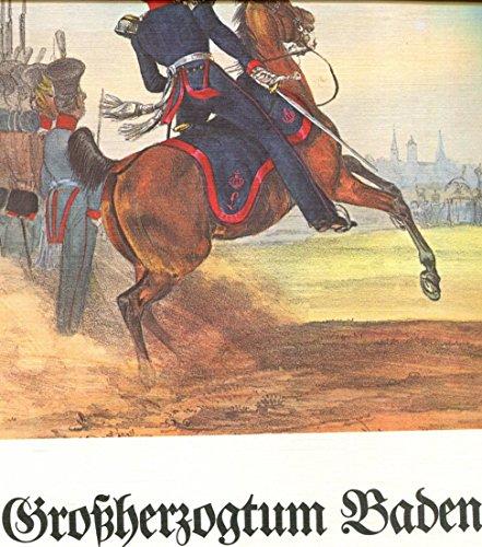Das deutsche Bundesheer in charakteristischen Gruppen nach altkolorierten Lithographien um 1840. Großherzogtum Baden.
