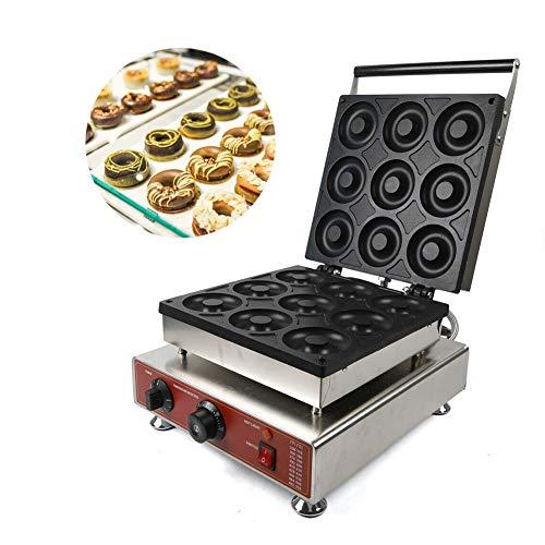 Donut Maker Machine 110V 1800W 9 Pieces Electric Doughnut Baker Maker Machine Commercial Use Nonstick