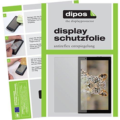dipos I 2X Schutzfolie matt kompatibel mit Blaupunkt Endeavour 101G Folie Bildschirmschutzfolie
