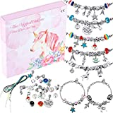 DIY Charming Bracelet Making Kit, Craft Jewelry Making Supplies Bead Jewelry Gift Set for Girls Teens