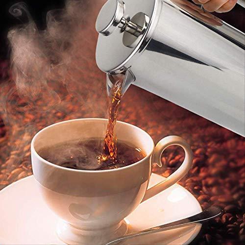Press Coffee Maker Stainless Steel Coffee Percolator Pan, dubbelwandig en brede inhoud, 800 ml
